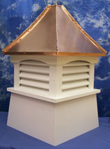 Beautiful vinyl cupola with louvers.Click for more information.