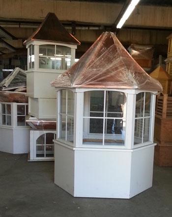 Large Hexagonal Window Cupola Vinyl 54w X 88 Tall